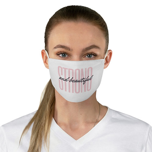 "Pink ""Strong and Beautiful"" Fabric Face Mask"
