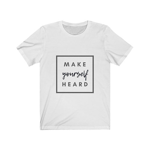 "Gray/Black ""Make Yourself Heard"" Short Sleeve Tee"