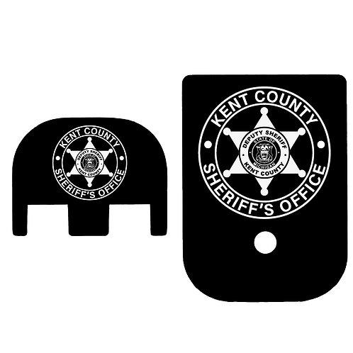 Law Enforcement Glock Mag Base Plate & Slide Back Plate Bundle