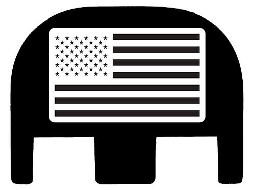 American Flag Glock Slide Back Plate