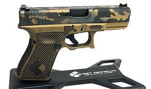 Laser Stippling Burnt Bronze Cerakote WM