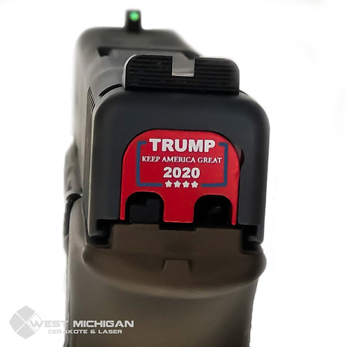Trump 2020 Glock Slide Back Plate