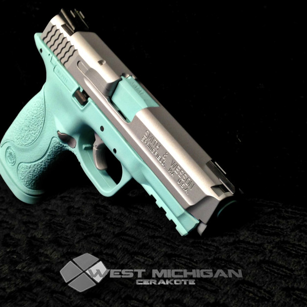 M&P 40 in H-175_Robins Egg Blue Cerakote