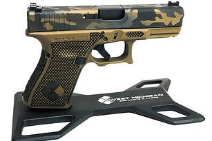 Glock 19_Cerakote_Stippling_Frame_Mod_Burnt Broze_Camo