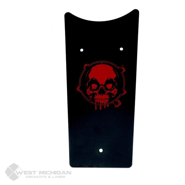 Harley Gas Tank Part - Black & Red Skull