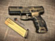 Gold Distressed Cerakote Pistol