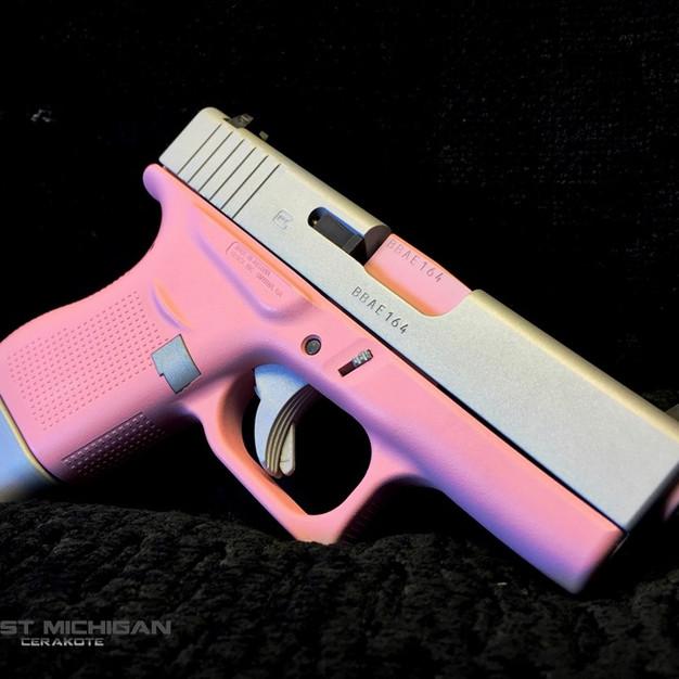 Glock 43_H-244 Pepto Pink_H-255_Cerakote