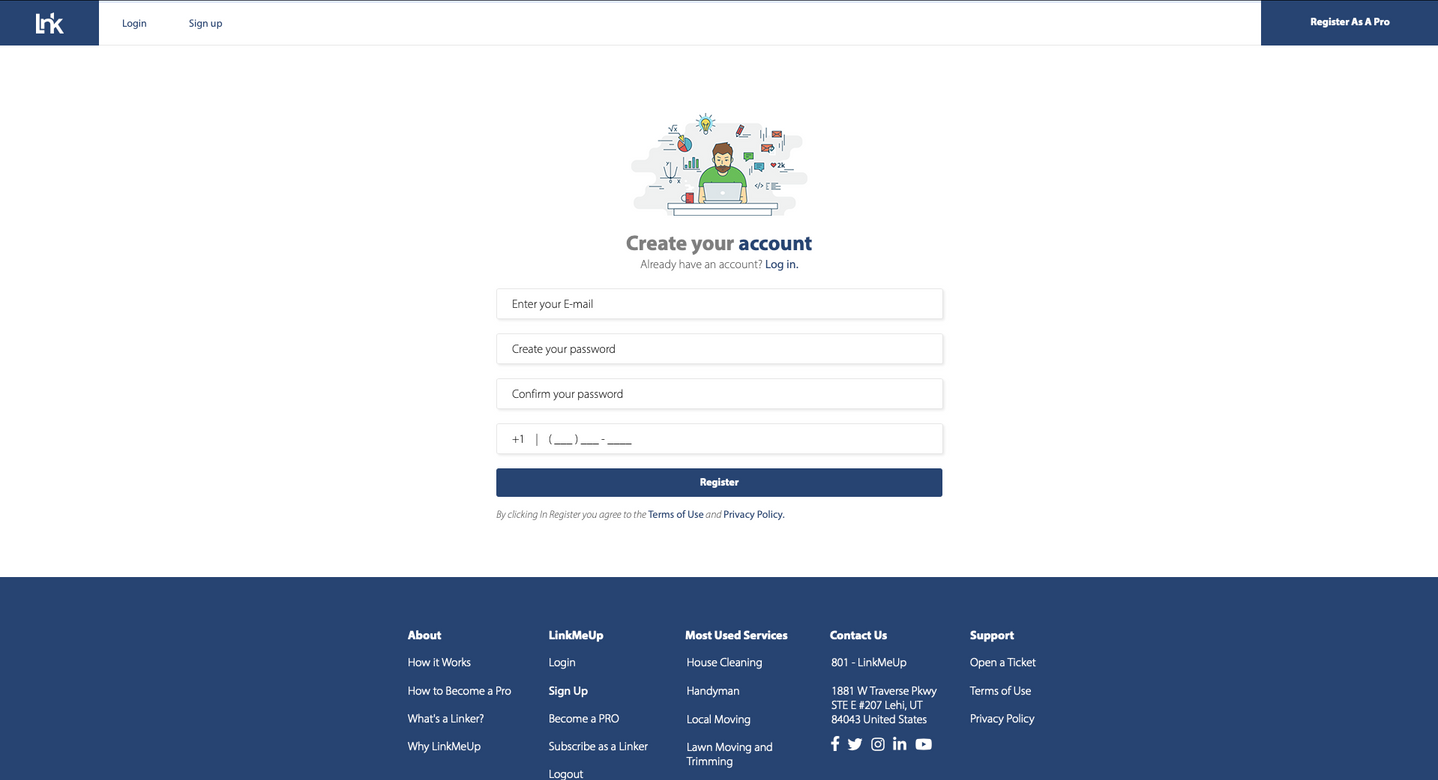 WebSite - LinkMeUp