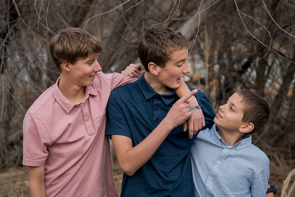 Brothers in a lifestyle family portrait session