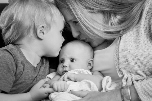 In-home newborn photo session, Golden, CO