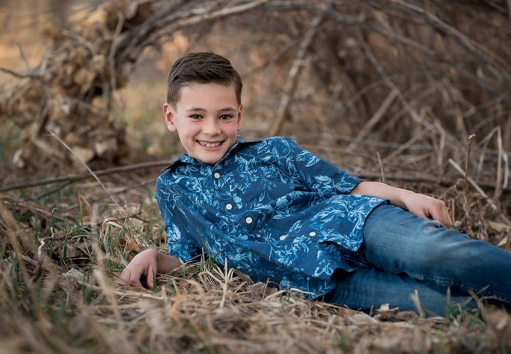 Portrait of a boy at Denver area photo session