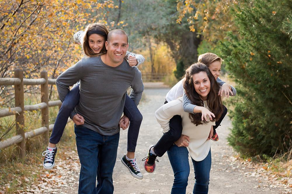 Fun family portrait session Golden, CO