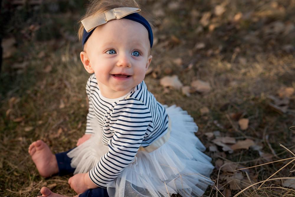 Blue eyed baby, lifestyle portrait