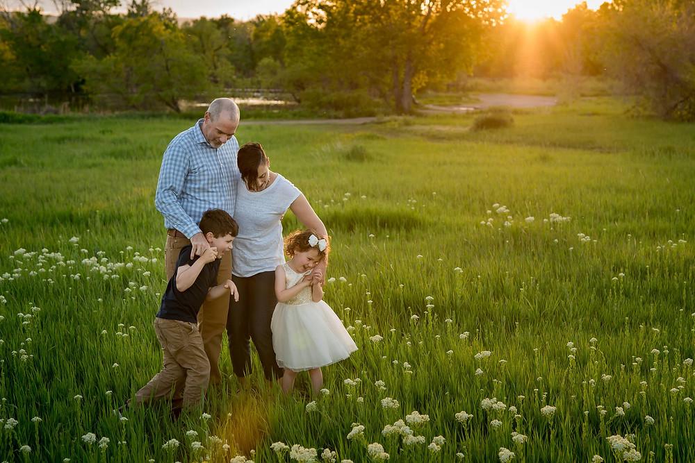 Lifestyle family portrait in Lakewood, Colorado