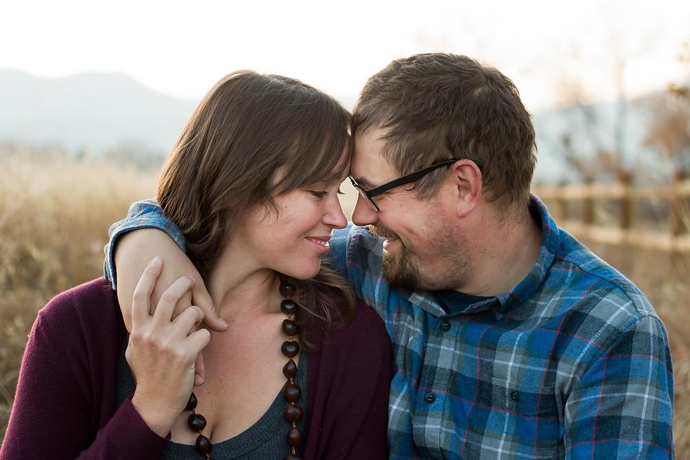 Portrait of happy couple Littleton, CO