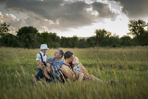 Denver outdoor family photo shoot in Colorado Sunset