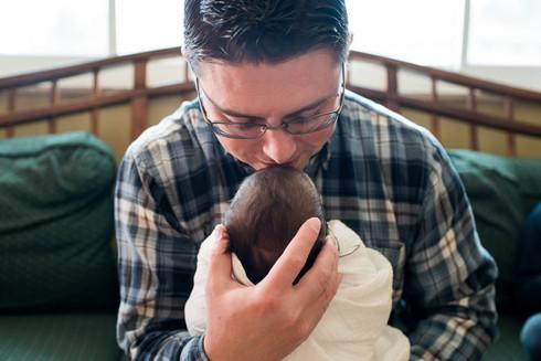 Lifestyle newborn photo session, Littleton, CO