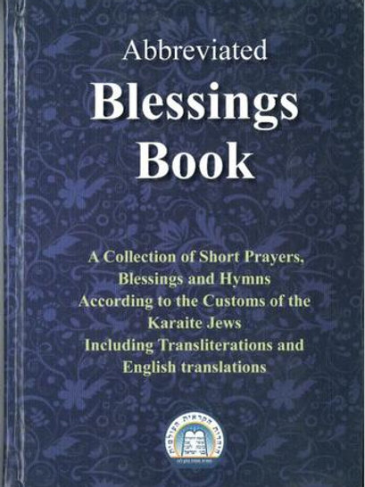 Abbreviated Blessings book