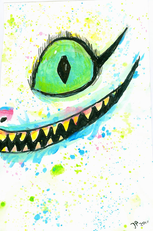 Cheshire Cat Watercolor 8x10