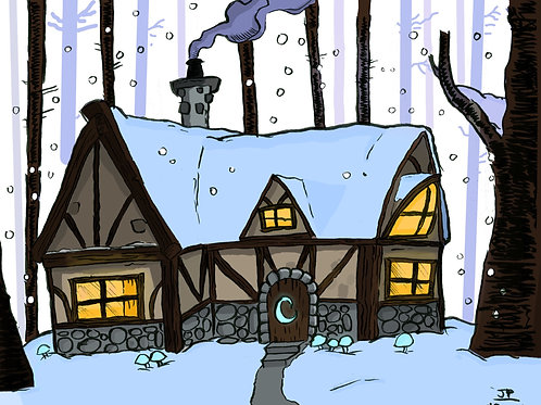Wizard Winter Cottage 11X17