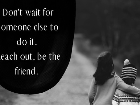 Don't Wait for Someone Else
