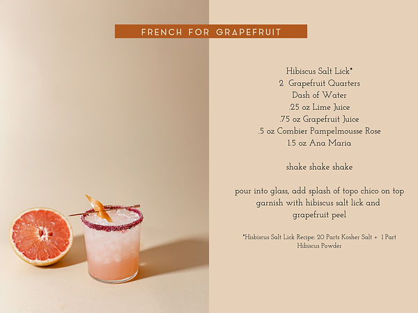 French for Grapefruit Ritual recipe card