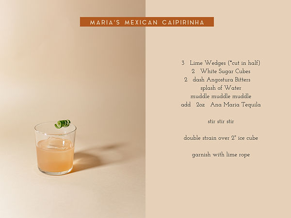 Maria's Mexican Caipirinha recipe card.j