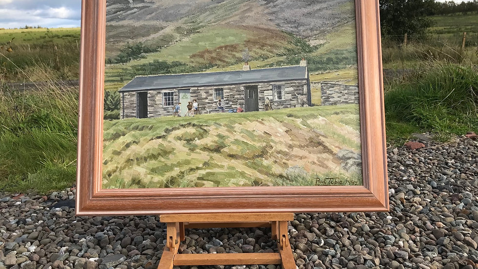 "Paul Tobia 1992 ""Black Sail Ennerdale"" Unique High Quality YHA Rural Painting"