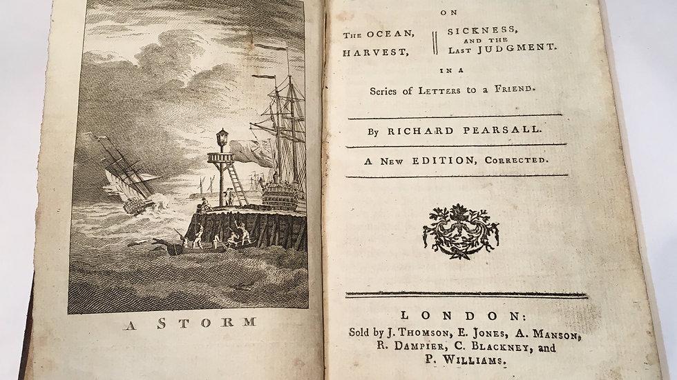 Richard Pearsall 1753 - Contemplations on Ocean Harvest Sickness Last Judgement