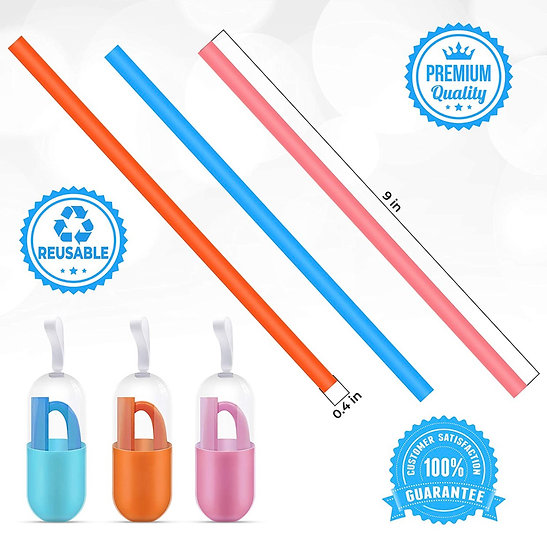 Foldable Silicone Straw Keyring