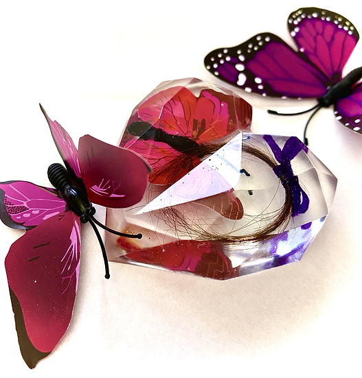Custom Large 3D Resin Heart Personalised Keepsake