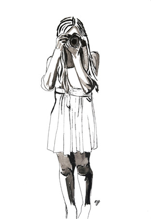 photo-girl-ink-illustration
