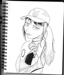 D.va Ink Drawing