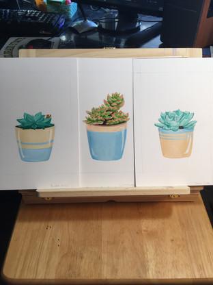 succulent-gouache-paintings