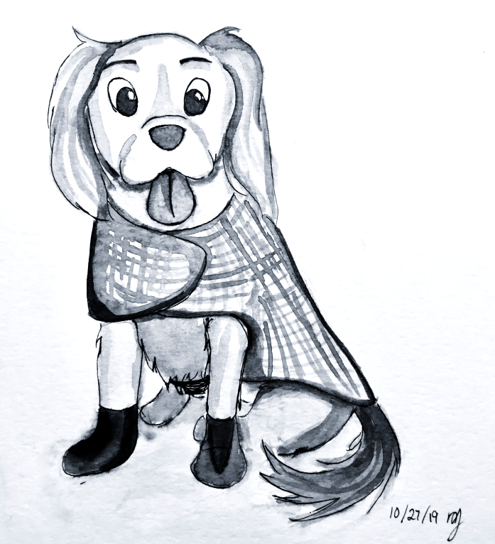inktober-puppy-painting
