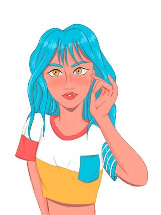 blue-haired-girl-art