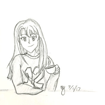 coffee-girl-drawing