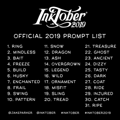 inktober-2019-prompt-list