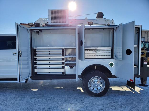 Laramie Driver-Side Exterior Cabinets