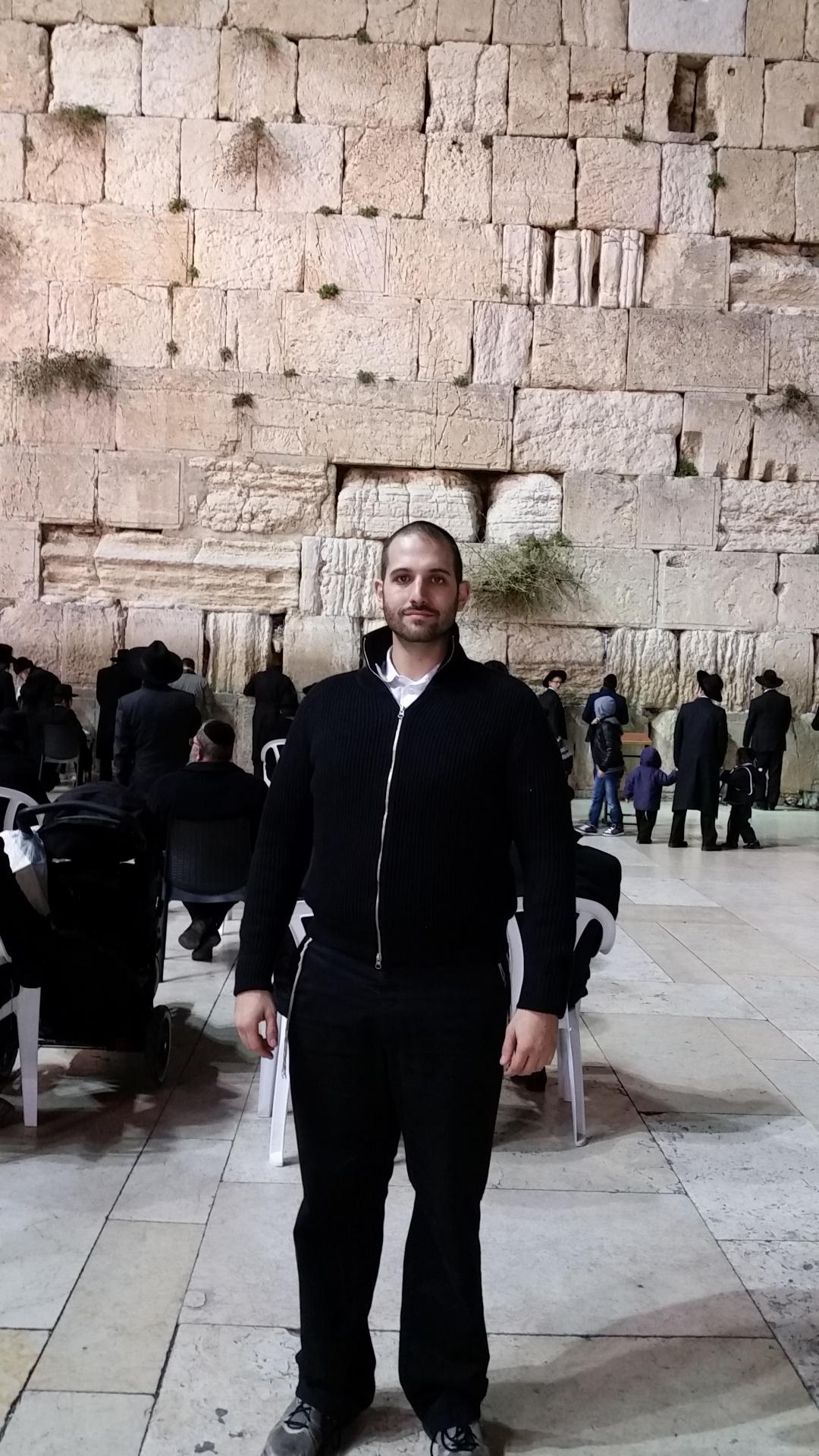 Rabbi J at the Kotel
