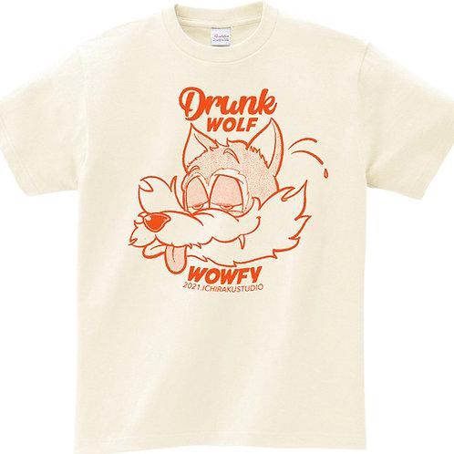 -DRUNK WOLF-ヴィンテージ加工 Tシャツ / ユニセックス