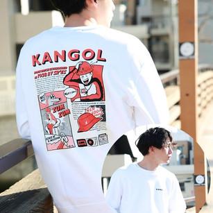 ファッションブブランド kangol コラボトレーナー