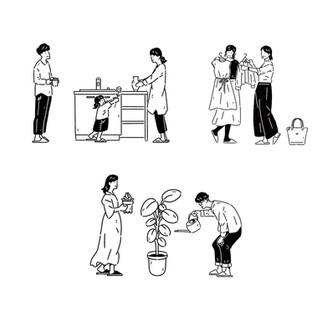 TOTO「洗面化粧台 ドレーナ」カタログイラスト