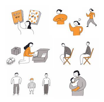 性格を変えるための認知行動療法ノート』(大和出版)    挿絵