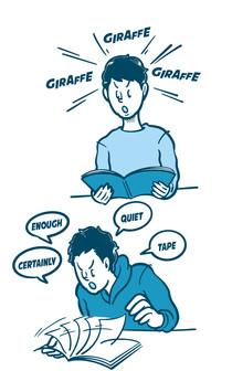 ICHIROさん、一撃で英語が話せる方法を教えてください!イラストカット