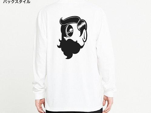Saturn face ロングTシャツ / バックプリントver