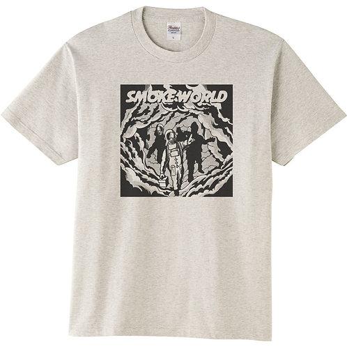 -SOMKE WORLD-ヴィンテージ加工 Tシャツ / ユニセックス