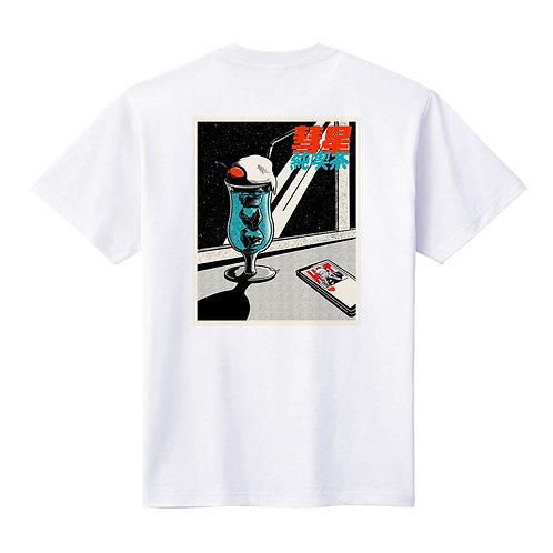 - 純喫茶 クリームソーダver- バックプリントTシャツ / ユニセックス