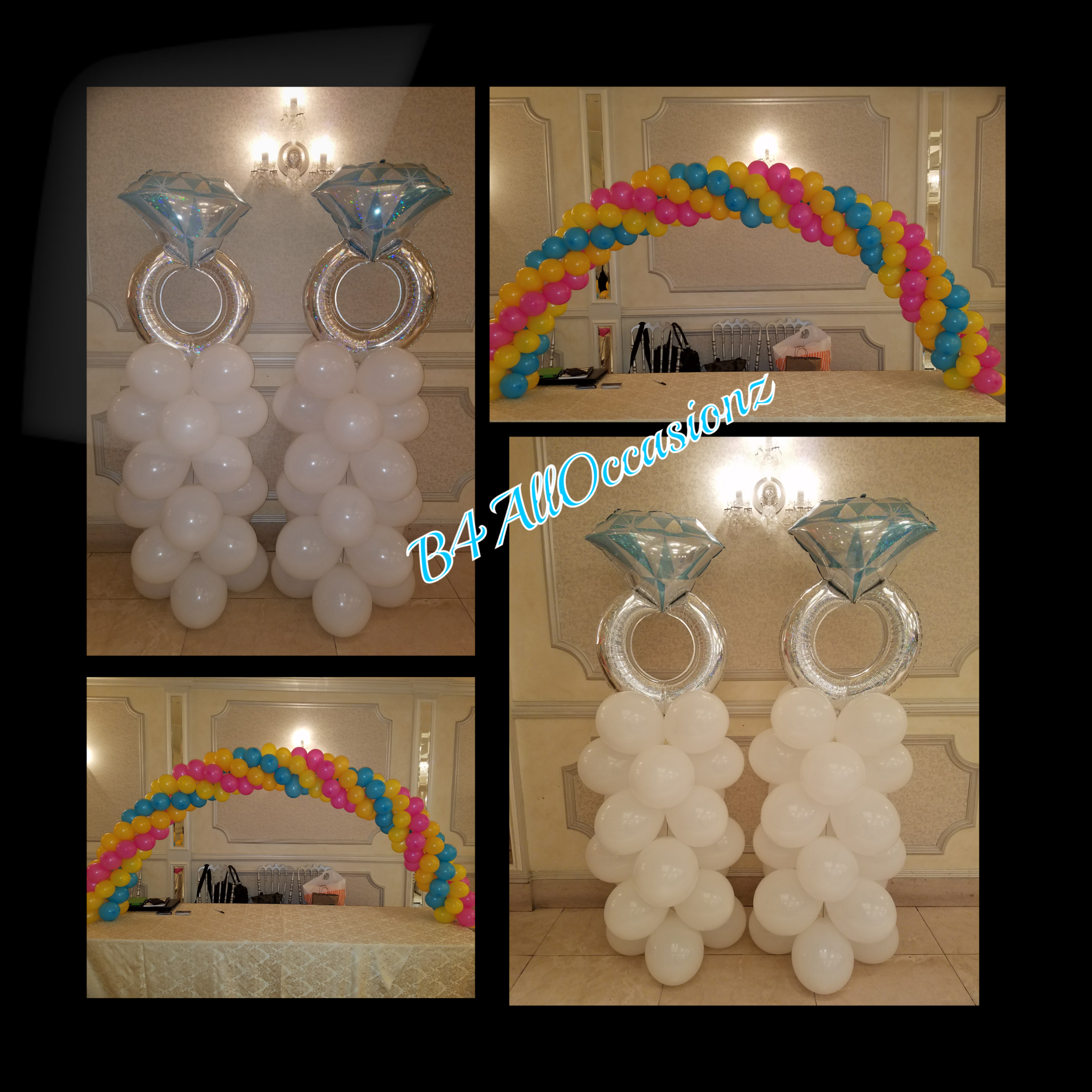 Wedding Rings & Rainbow Column