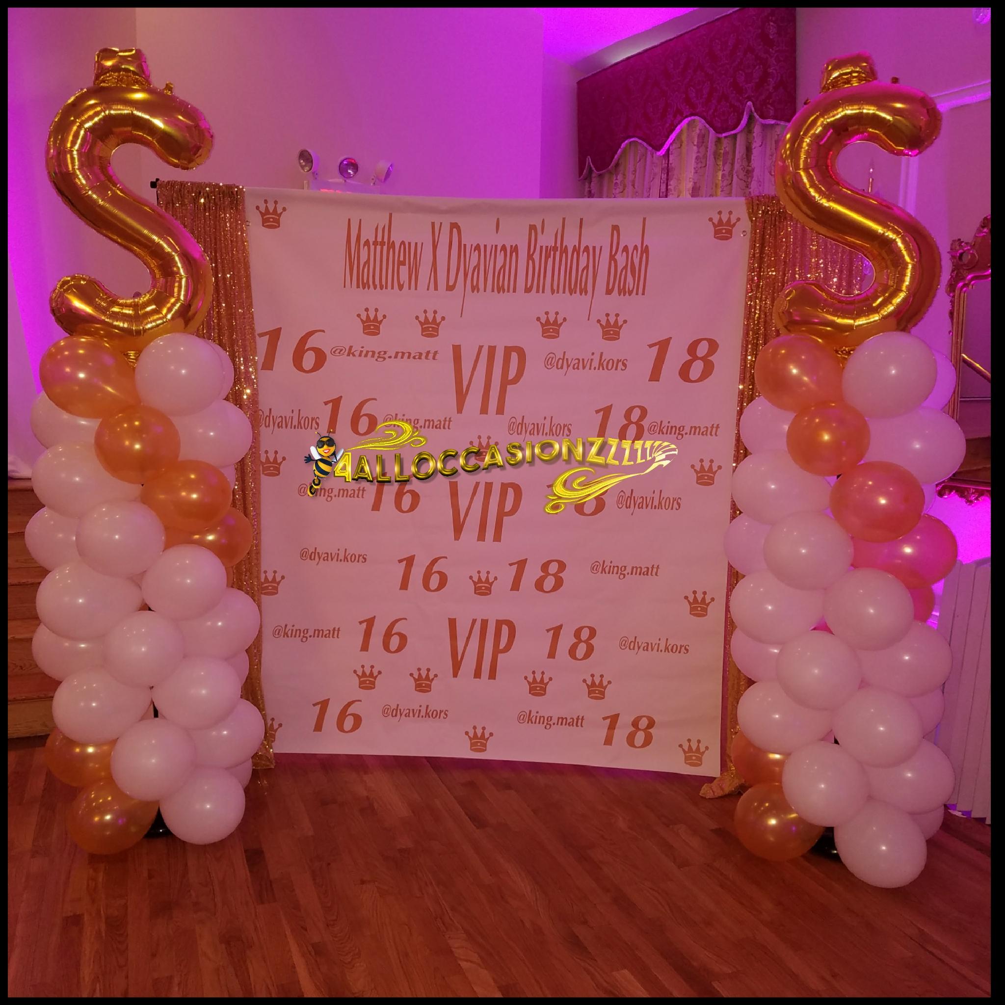 $ Columns 16/18 Birthday Party